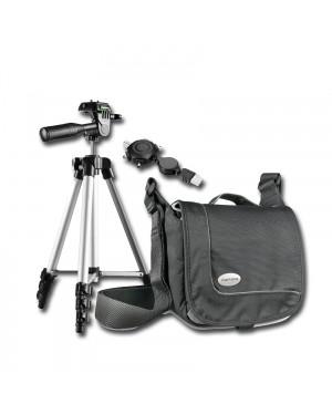 FOTO HITS Ein-Jahres PREMIUM ABO + Set aus Walser Fototasche & Mantona Stativ + USB-Sternadapter