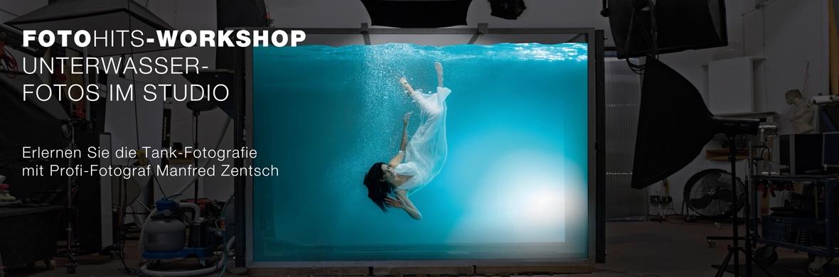 FOTO HITS Workshop: Unterwasserfotos im Studio mit Manfred Zentsch